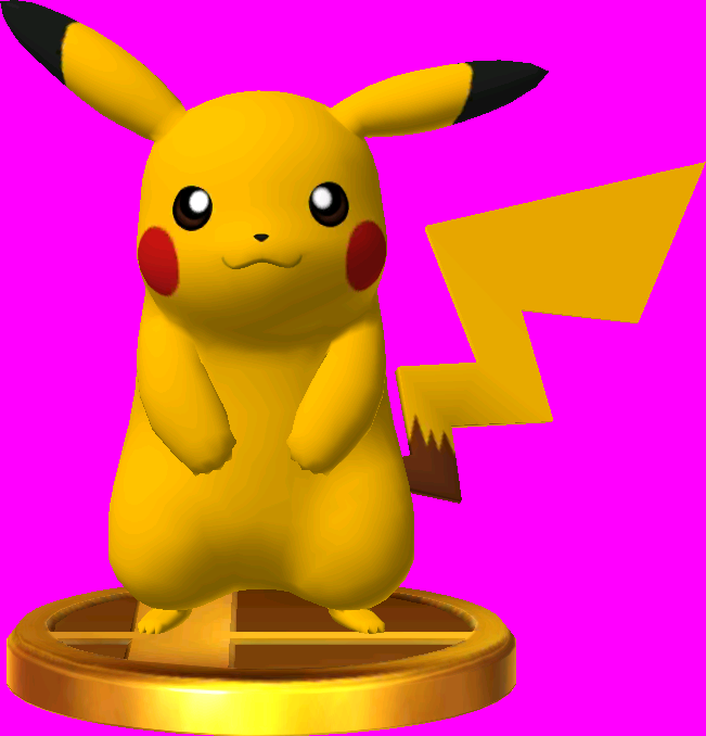 Pikachu trophy SSB3DS