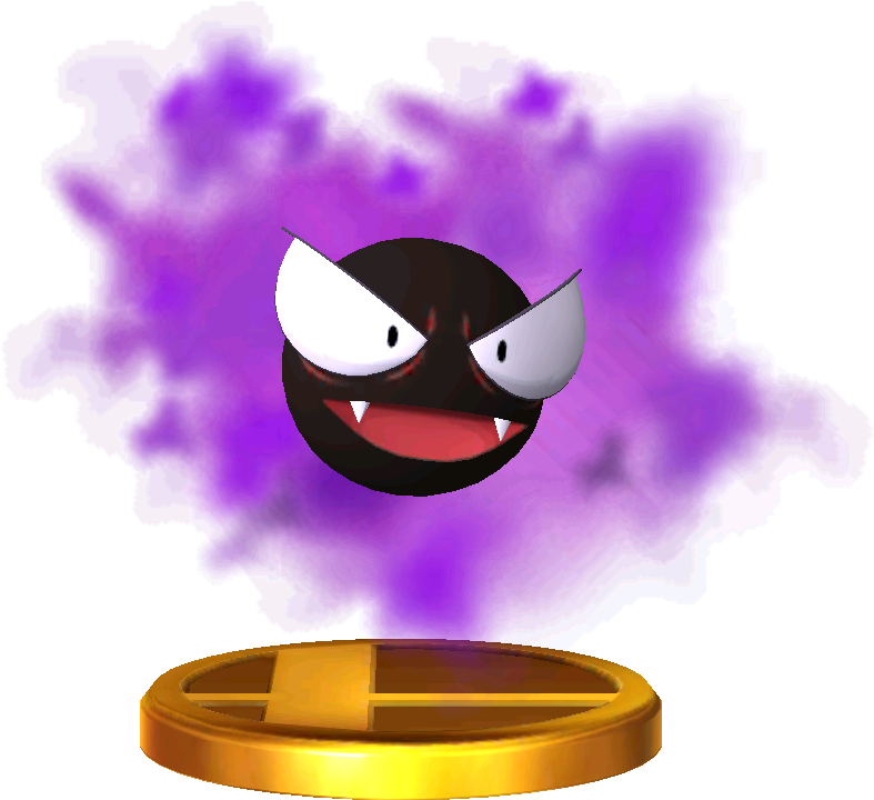 Gastly trophy SSB3DS