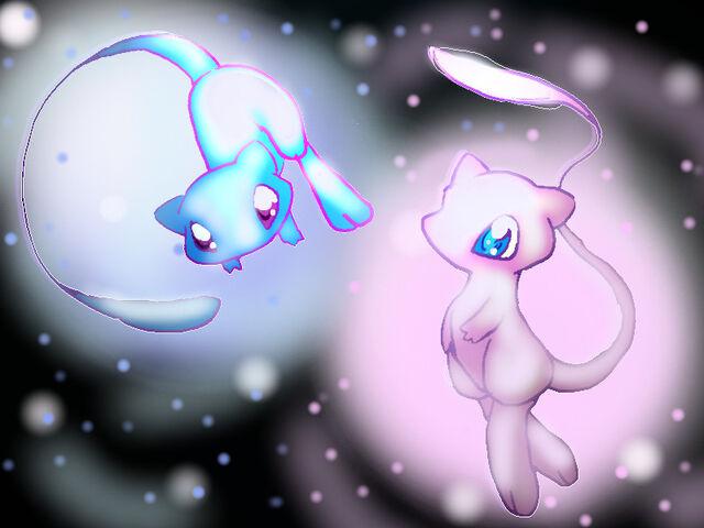 File:Shiny Mew and Mew.jpg