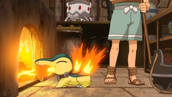 Damos' Cyndaquil Flamethrower