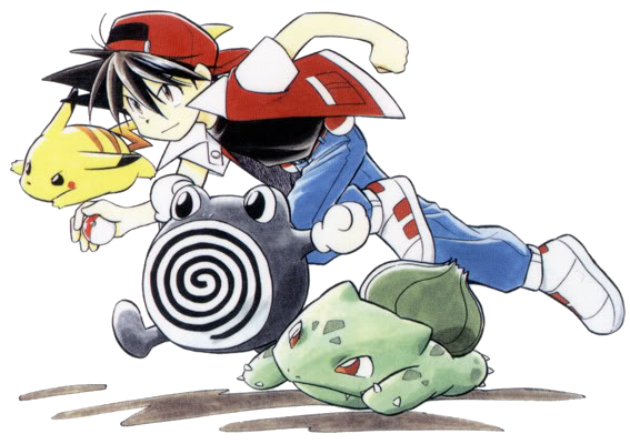 File:Red and his Pokemon.png