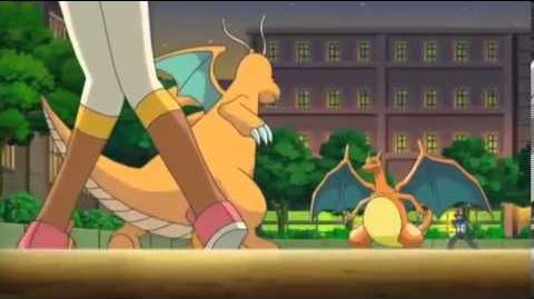 Ash's Charizard Returns (2) - Iris' Dragonite VS