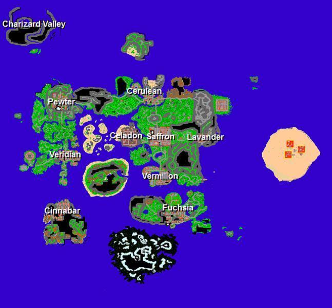 Pokemon mapa