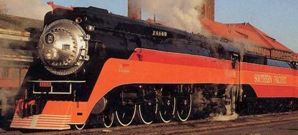 "Southern Pacific's ""Daylight Special"" numbered 4449. 