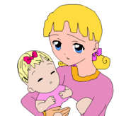 Teen Darla and Baby Eloise by pc pixels