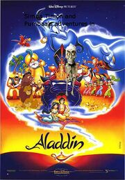 Simba Timon and Pumbaa's adventures in Aladdin poster