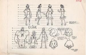 Olive Oyl Model Sheet
