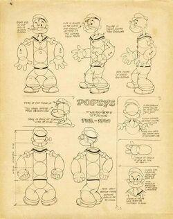 Popeye model sheet