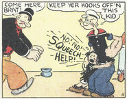 Popeye protects Mary Ann