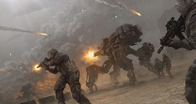 File:1200x640 16186 Block13 2d sci fi war soldiers mech picture image digital art.jpg
