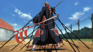 Hidan binded by the jutsu