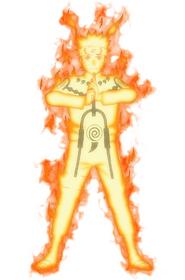 Naruto nine tails chakra mode