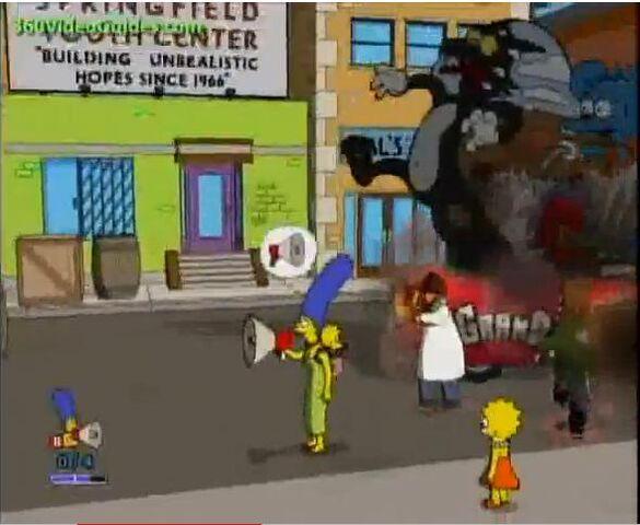 File:Marge using her megaphone.jpg