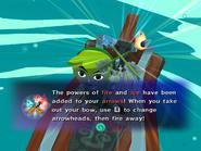 Link arrows fire ice