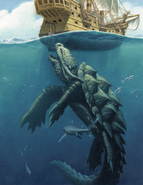 D&D Dragon Turtle Underwater Attack