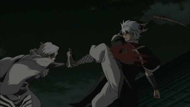 File:Oboro strikes Gintoki's pressure point.png