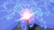 Madara equips Susanoo onto Kurama