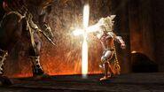 Dante using cross