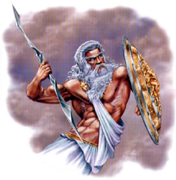 Greek God Zeus In classic Greek Mythology