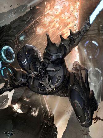 Derrick power armor