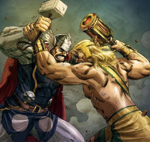 File:Hercules VS Thor colored by ReillyBrown.jpg