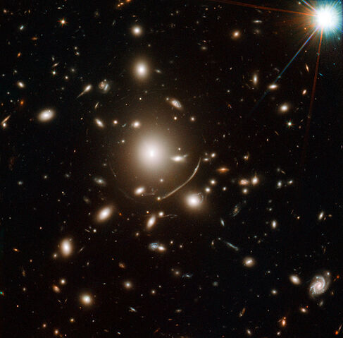File:NASA Telescopes Help Discover Surprisingly Young Galaxy.jpg