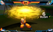 Extreme Butoden Krillin S Sun Flare Destructo-Disc (Giant Destructo-Disc Finish)