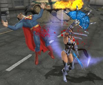 File:Kitana slashes Superman.png