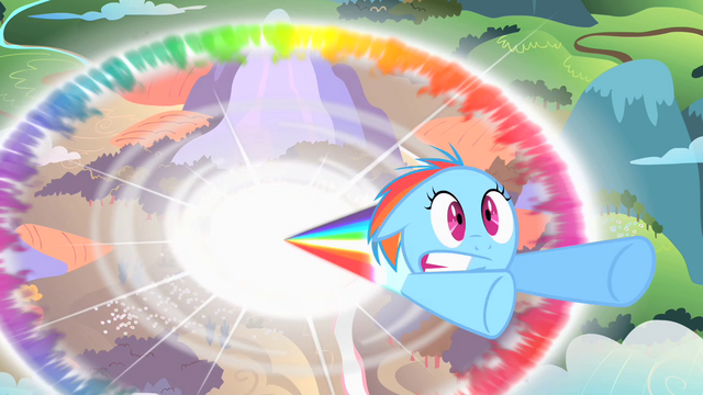 File:Filly Rainbow Dash sonic rainboom.png
