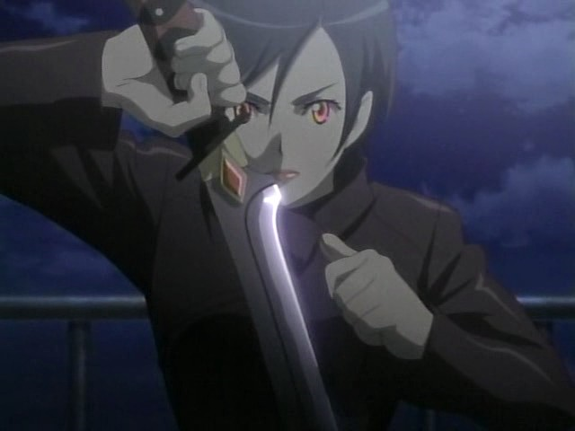 File:Saya loading her sword with blood.png