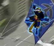 Dragomaru riding kite