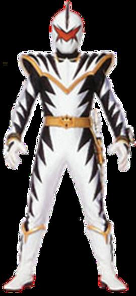 File:White Dino Ranger & AbareKiller.png