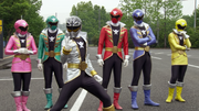 Gokaiger(red, blue, yellow, pink. green, and silver)