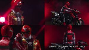 Red Senshi Handover- Gokaiger - Go-Busters