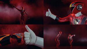 Red Senshi Handover- Gekiranger - Go-onger