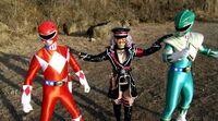 Delusional Imports Malshiina with Powerful Rangers