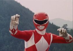 Mighty Morphin Red Ranger Pose