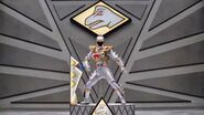 Silver Dino Charge Ranger in Dino SuperDrive Mode