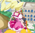 Cure Peach on the Roller Coaster