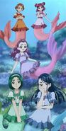 Nozomi and her friends in Mermaid tails