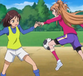 Hibiki plays football