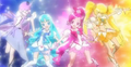 Heartcatch Precure Cures in DX3 Opening