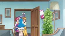 Hime hugs her friends