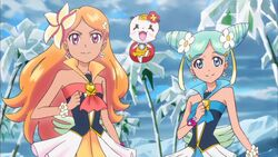 Alo-Ha Pretty Cure and Their Partner in Episode 28
