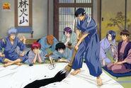 The Rikkai Dai team having fun painting