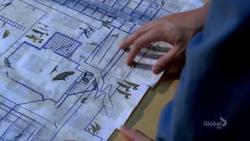 Blueprint of gate building
