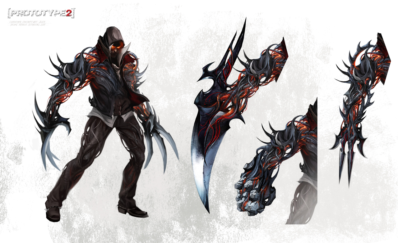 Prototype 2 alex mercer claws