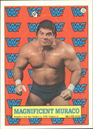 1987 WWF Wrestling Cards (Topps) Sticker Magnificent Muraco 13