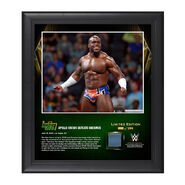 Apollo Crews Money In The Bank 2016 15 x 17 Framed Photo w Ring Canvas