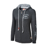 WrestleMania 30 Charcoal Grey Full-Zip Women's Hooded Sweatshirt